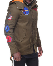 Men - Patches Fishtail Jacket