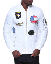 Men - Patches Aviator Flight Jacket