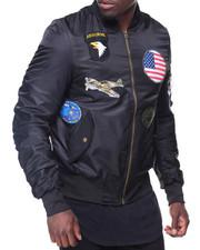 Men - Patches Aviator Flight Jacket
