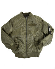 Boys - Biker Detail Bomber Jacket (8-20)