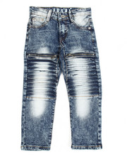 Bottoms - Pleated Jeans (4-7)