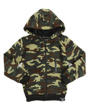 Boys - Quilted Full Zip Fleece Hoodie (8-20)