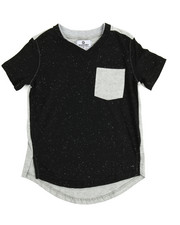 Boys - Akademiks Neppy Yarn Elongated V.Neck Tee (4-7)