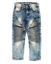 Bottoms - Pleated Zip Trim Jeans (4-7)