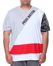 T-Shirts - S/S Color Block Tee (B&T)