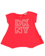 Girls - Bow Back DKNY Tee (2T-4T)