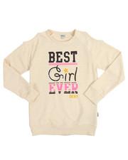 Tops - Best Girl Ever Cold Shoulder Top (7-16)