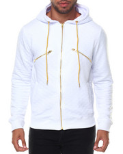 Men - Gold Trim Quilted Hoodie