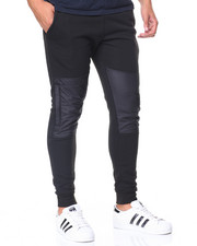 Men - Fleece Jogger Nylon Block