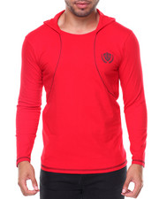 Men - Fitted L/S Hooded Tee