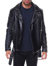 Men - Studded Motorcycle Jacket