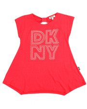 Girls - Bow Back DKNY Tee (7-16)