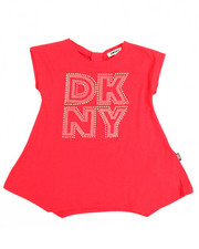 T-Shirts - Bow Back DKNY Tee (4-6X)