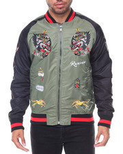 Reason - Wolves Bomber Two Tone Jacket Embroidered Sleeves