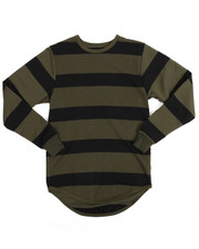 Sweatshirts - L/S French Terry Yarn-Dyed Stripe Sweatshirt (8-20)