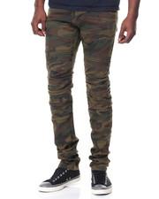 Men - Twill Cargo Biker Jeans