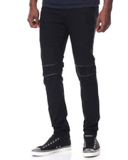 Slim - Ripped/Zipped Moto Jean