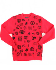 Sweatshirts - L/S Fleece Printed Pullover Sweatshirt (8-20)