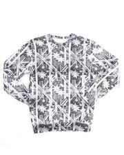 Arcade Styles - L/S Fleece Printed Pullover Sweatshirt (8-20)