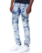 MADBLUE - Graffiti Blue Premium Wash Motto Jeans