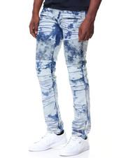 Men - Graffiti Blue Premium Wash Motto Jeans