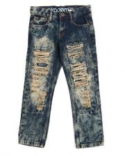 Jeans - Akademiks Snow Wash Slim Fit Rip & Repair Denim Jean (8-20)