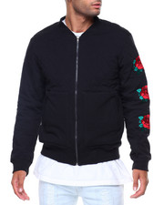Men - Quilted/Patches Bomber Jacket