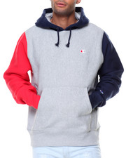 Athleisure for Men - Reverse Weave Colorblock Hood
