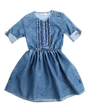 Girls - Ruffle Denim Dress (7-16)