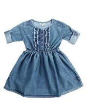 Girls - Ruffle Denim Dress (4-6X)