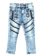 Bottoms - Fashion Cut/Sew Zipper Jean (2T-4T)