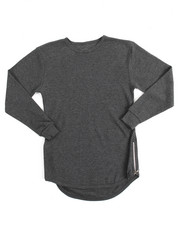 Tops - L/S Rounded Bottom Thermal (8-20)