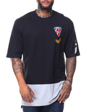 Southpole - S/S Colorblock Patch Tee (B&T)