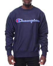 Men - Reverse Weave Full Script Crew Sweatshirt