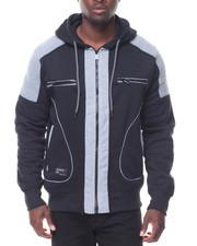 Rocawear - Contrast Moto/Zipper Detail Fleece Hoodie