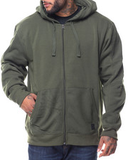 Southpole - L/S Biker Full Zip Fleece Hoodie (B&T)