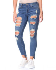 Fashion Lab - Destructed Hi-Low Hem Jeans