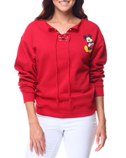 Graphix Gallery - Mickey Boatneck Lace-up Sweatshirt