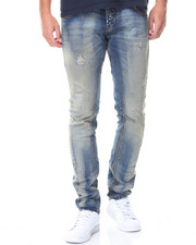 Jeans & Pants - Patched Ripped Jeans