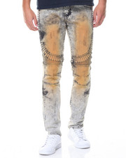 Buyers Picks - Zipper And Paint Motto Jeans