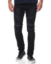 Slim - Zip Trim Moto Twill Pants