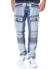 Akademiks - Front Wash Cargo Pocket Motto Jean