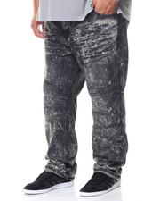Men - Black Moto Denim Jean (B&T)