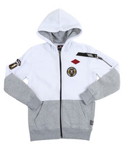 Boys - L/S Patch Full Zip Fleece Hoodie (8-20)