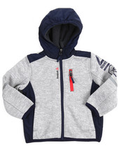 Boys - Hooded Colorblock Fleece Jacket (2T-4T)