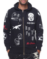 Men - French Terry All Over Print Hood