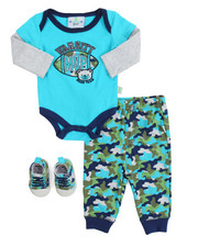 Boys - 3 Piece Creeper Long Set (Infant)