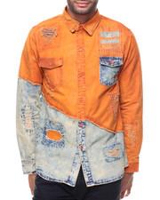 Long-Sleeve - Rust L/S Woven Shirt