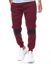 Sweatpants - Contrast Color Zipper Moto Joggers