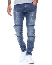 Men - Daredevil Zipper Trimmed Ultra Skinny Biker Jean